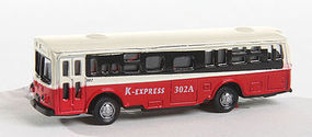 Herpa Bus Type 1 red with Light N Scale Model Railroad Vehicle #63638