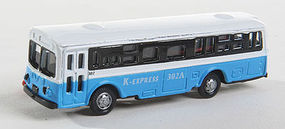 Herpa Bus Type 1 blue with Light N Scale Model Railroad Vehicle #63654