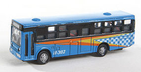 Herpa Bus Type 2 Blue with Light N Scale Model Railroad Vehicle #63670