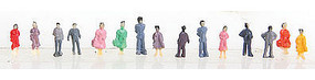 Herpa Assorted Standing Figures (50) N Scale Model Railroad Figure #63696