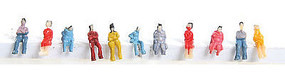 Herpa Assorted Sitting Figures (50) N Scale Model Railroad Figure #63709