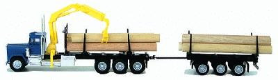 Herpa Super-Duty Tri-Drive Logging Truck HO Scale Model Railroad Vehicle #6394