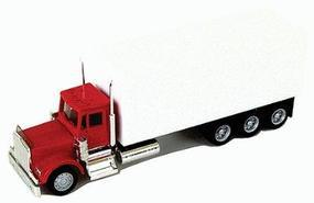 Herpa Kenworth w/24 Cargo Box HO Scale Model Railroad Vehicle #6398
