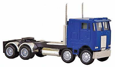 Herpa Models Peterbilt Cabover 4-Axle Twin Steer -- HO Scale Model Railroad Vehicle -- #6416
