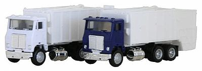 Herpa White Road Commander Garbage Truck Various Colors HO Scale Model Railroad Vehicle #6446