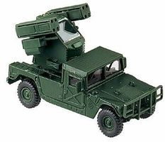 Herpa Hummer with Air Defense System Avenger HO Scale Model Railroad Vehicle #644