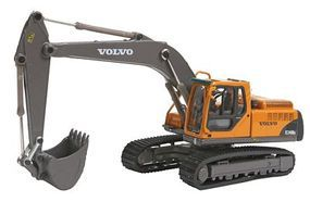 Herpa Volvo Ec 240 BLC Excavator - Assembled - Yellow, Black HO Scale Model Railroad Vehicle #6491