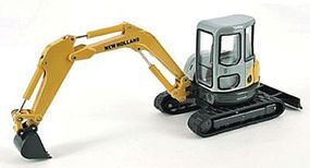 Herpa New Holland E502SR Tracked Excavator Yellow, Black, Gray HO Scale Model Railroad Vehicle #6518