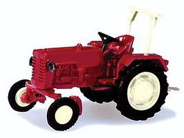 Herpa McCormick D326 Farm Tractor - Assembled - Red N Scale Model Railroad Vehicle #65993