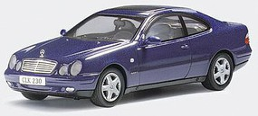 Herpa Mercedes Clk (blue) Diecast Model Car 1/43 Scale #70492