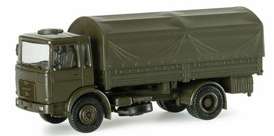 Herpa Models MAN LKW 5-Ton German Army Cargo Truck -- HO Scale Model Railroad Vehicle -- #740111
