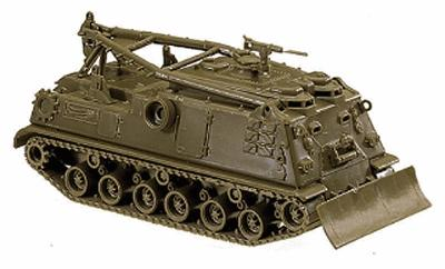 Herpa Models Roco Mini-Tanks US/NATO - Armored Vehicles -- M88 Armored Tank Recovery Unit - HO-Scale