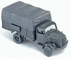 Herpa Former German Army WWII Opel Blitz Covered Personnel HO Scale Model Railroad Vehicle #740517