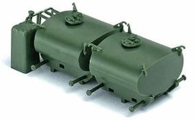 Herpa Modern German Army BW Accessories Portable Fuel Tanks HO Scale Model Railroad Vehicle #740548