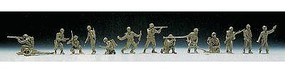 Herpa US/NATO US/German Soldiers pkg(14) HO Scale Model Railroad Figure #741194