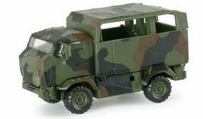 Herpa Mungo 4x4 German Army Light Transport Truck HO Scale Model Railroad Vehicle #743587
