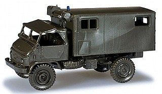 Herpa Models Unimog S404 Ambulance Truck -- HO Scale Model Railroad Vehicle -- #743907