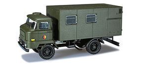 Herpa Ifa L60 East German Army Box Body Truck HO Scale Model Railroad Vehicle #744195