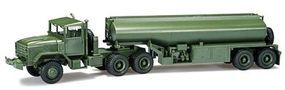 Herpa M 931 Semi Tractor w/Tank Trailer US Army (green) HO Scale Model Railroad Vehicle #744492