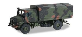 Herpa Mercedes-Benz Zetros Armored Truck Camouflage HO Scale Model Railroad Vehicle #744911