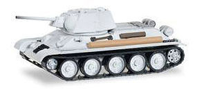 Herpa T-34 Tank 76 Leningrad Soviet Army (gray) HO Scale Model Railroad Vehicle #745550