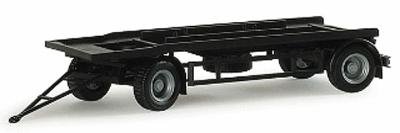 Herpa Trailer for Roll-Off Container - HO Scale Model Railroad Vehicle #76289