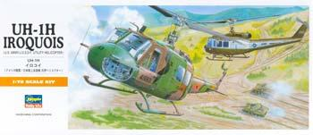 Hasegawa UH1H Iroquois Helicopter Plastic Model Helicopter Kit 1/72 Scale #00141