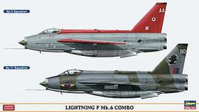 Hasegawa Lightning F MK6 Combo Limited Plastic Model Airplane Kit 1/72 Scale #01982