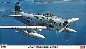 Hasegawa Skyraider Combo LTD Plastic Model Airplane Kit 1/72 Scale #02027