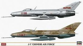 Hasegawa J7 Chinese Air Force (2) Plastic Model Airplane Kit 1/72 Scale #02102