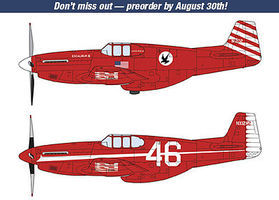 Hasegawa P-51C Mustang Excalibur III (2) Plastic Model Airplane Kit 1/72 Scale #02215