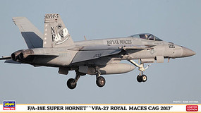 Hasegawa F/A-18 Super Hornet VFA-27 Royal Maces Plastic Model Airplane Kit 1/72 Scale #02254