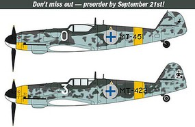 Hasegawa Messerschmit BF109G-6 Finnish Aces (2 Kits) Plastic Model Airplane Kit 1/72 Scale #02259