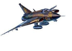 Hasegawa J35F/J Draken Swedish AF Interceptor Plastic Model Airplane Kit 1/48 Scale #07241