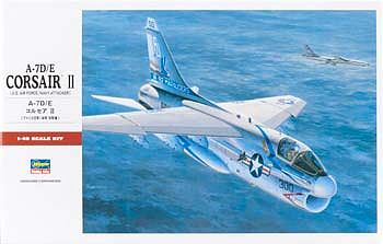 Hasegawa A7D/E USN Aircraft -- Plastic Model Airplane Kit -- 1/48 Scale -- #07247