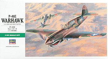 Hasegawa P40E Warhawk US Fighter Plastic Model Airplane Kit 1/48 Scale #09086
