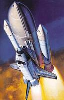 Hasegawa NASA Space Shuttle Orbiter w/Boosters Plastic Model Space Shuttle Kit 1/200 Scale #10729
