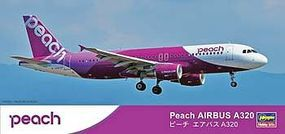 Hasegawa Peach Aviation Airbus A320 Plastic Model Airplane Kit 1/200 Scale #10741
