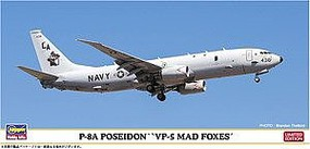 Hasegawa P-8A Poseidon VP-5 Mad Foxes Plastic Model Airplane Kit 1/200 Scale #10822