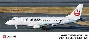 Hasegawa J-Air Embraer 170 Plastic Model Airplane Kit 1/144 Scale #11102