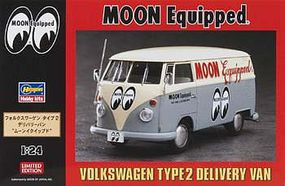 Hasegawa VW Type 2 Delivery Van Moon Eyes Ltd Ed Plastic Model Truck Kit 1/24 Scale #20249