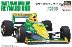 Hasegawa Waranabe Dunlop Reynard 89D 89' Japan F3000 Champion Race Car Plastic Model Kit 1/24 #20370
