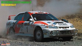 Hasegawa Mitsubishi Lancer Evolution IV 1997 Safari Rally Race Car Plastic Model Car Kit 1/24 #20395