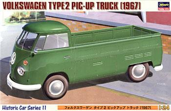 Hasegawa VW Type 2 Pickup Truck -- Plastic Model Truck Kit -- 1/24 Scale -- #21211