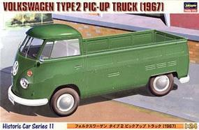 Hasegawa VW Type 2 Pickup Truck Plastic Model Truck Kit 1/24 Scale #21211