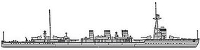 Hasegawa Japanese Navy Cruiser Tatsuta Plastic Model Military Ship Kit 1/700 Scale #30039