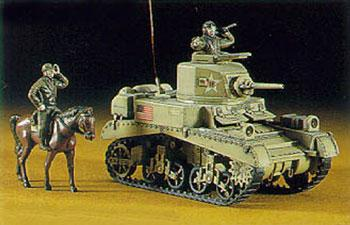 Hasegawa Light Tank M3 Stuart Mk.I -- Plastic Model Tank Kit -- 1/72 Scale -- #31103