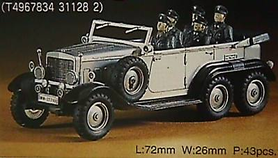 Hasegawa Mercedes Benz G4/W31 -- Plastic Model Staff Car Kit -- 1/72 Scale -- #31128