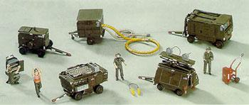 Hasegawa U.S. Aerospace Ground Equipment Set Plastic Model Military Diorama 1/72 Scale #35006