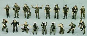 Hasegawa U.S. Pilot/Ground Crew Set B Plastic Model Military Figure 1/48 Scale #36005
